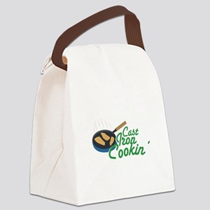 Cast Iron Cookin Canvas Lunch Bag