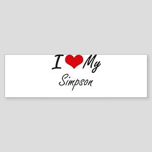 I Love My Simpson Bumper Sticker