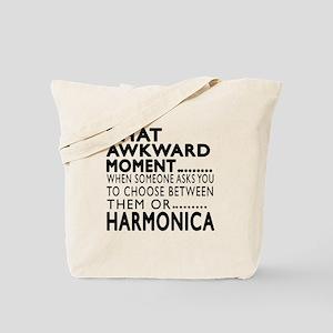 Harmonica Awkward Moment Designs Tote Bag