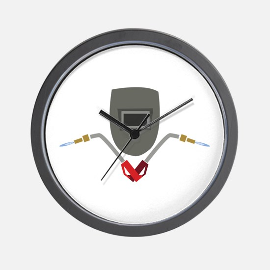 Welding Mask & Torch Wall Clock