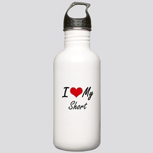 I Love My Short Stainless Water Bottle 1.0L