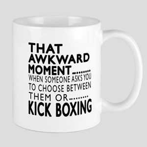 Kick Boxing Awkward Moment Designs Mug