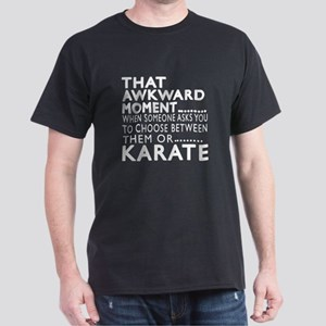Karate Awkward Moment Designs Dark T-Shirt