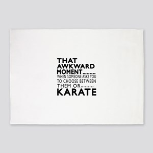 Karate Awkward Moment Designs 5'x7'Area Rug