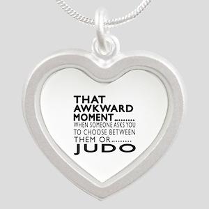 Judo Awkward Moment Designs Silver Heart Necklace