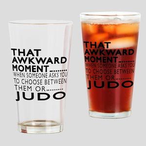 Judo Awkward Moment Designs Drinking Glass