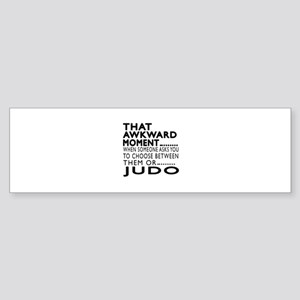 Judo Awkward Moment Designs Sticker (Bumper)