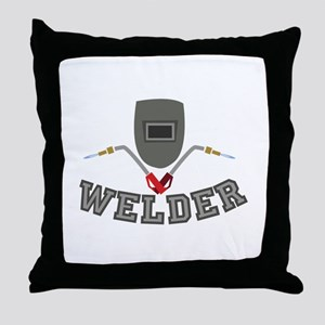 Welder Throw Pillow