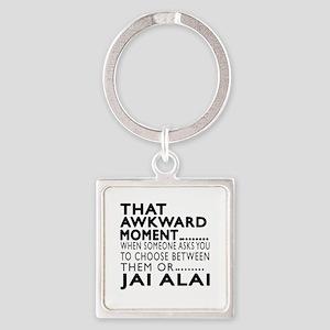 Jai Alai Awkward Moment Designs Square Keychain