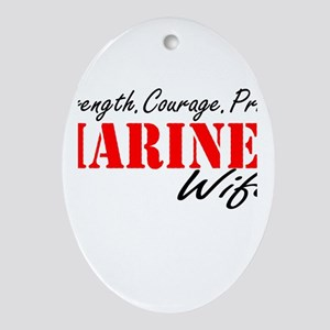 Strength.Courage.Pride Oval Ornament