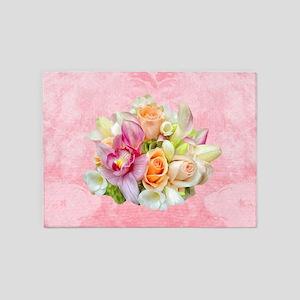 Rose Bouquet 5'x7'Area Rug