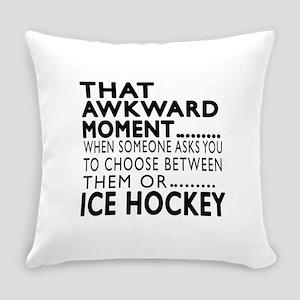 Ice Hockey Awkward Moment Designs Everyday Pillow