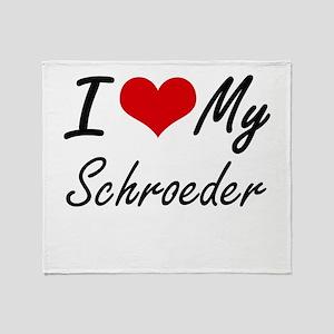 I Love My Schroeder Throw Blanket