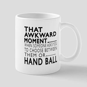 Hand Ball Awkward Moment Designs Mug
