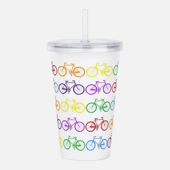 Rack O' Bicycles Acrylic Double-wall Tumbler