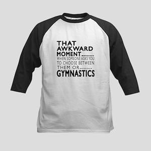 Gymnastics Awkward Moment Des Kids Baseball Jersey
