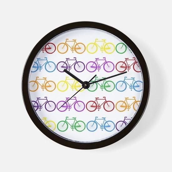 Rack O' Bicycles Wall Clock