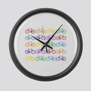 Rack O' Bicycles Large Wall Clock