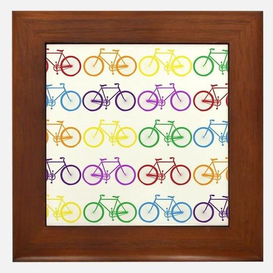 Rack O' Bicycles Framed Tile