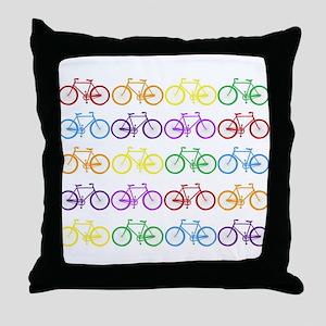 Rack O' Bicycles Throw Pillow