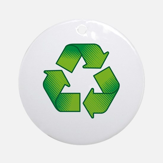 Funny Recycling Round Ornament