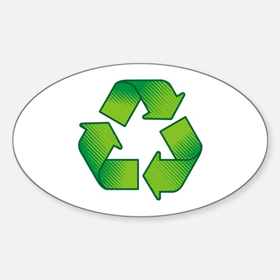 Cute Recycle Sticker (Oval)