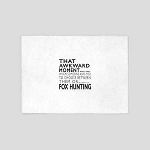 Fox Hunting Awkward Moment Designs 5'x7'Area Rug