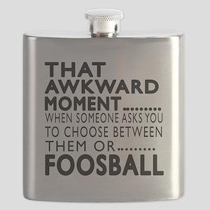 Foosball Awkward Moment Designs Flask