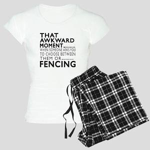 Fencing Awkward Moment Desi Women's Light Pajamas