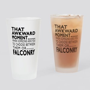 Falconry Awkward Moment Designs Drinking Glass