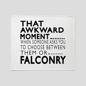 Falconry Awkward Moment Designs Throw Blanket