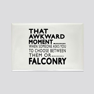 Falconry Awkward Moment Designs Rectangle Magnet