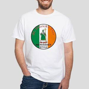 Morrissey, St. Patrick's Day White T-Shirt