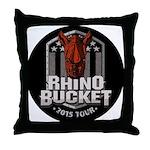 Rhino Bucket Throw Pillow