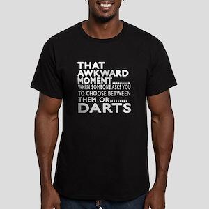 Darts Awkward Moment D Men's Fitted T-Shirt (dark)