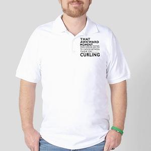 Curling Awkward Moment Designs Golf Shirt