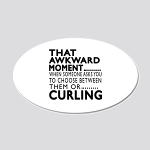 Curling Awkward Moment Desig 20x12 Oval Wall Decal