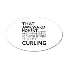 Curling Awkward Moment Desig Wall Decal