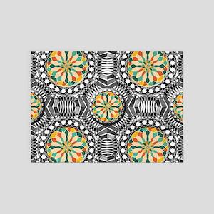 Beveled geometric pattern 5'x7'Area Rug
