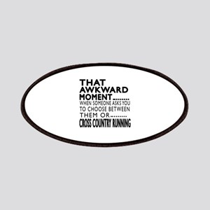 Cross Country Running Awkward Moment Designs Patch