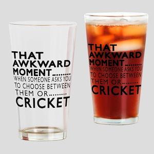 Cricket Awkward Moment Designs Drinking Glass