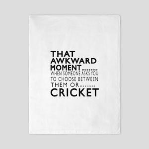 Cricket Awkward Moment Designs Twin Duvet