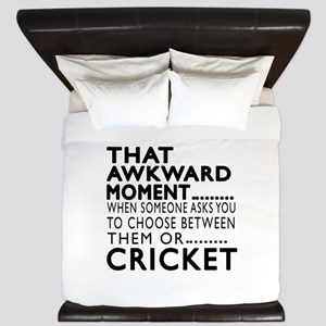Cricket Awkward Moment Designs King Duvet