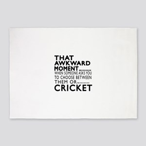 Cricket Awkward Moment Designs 5'x7'Area Rug