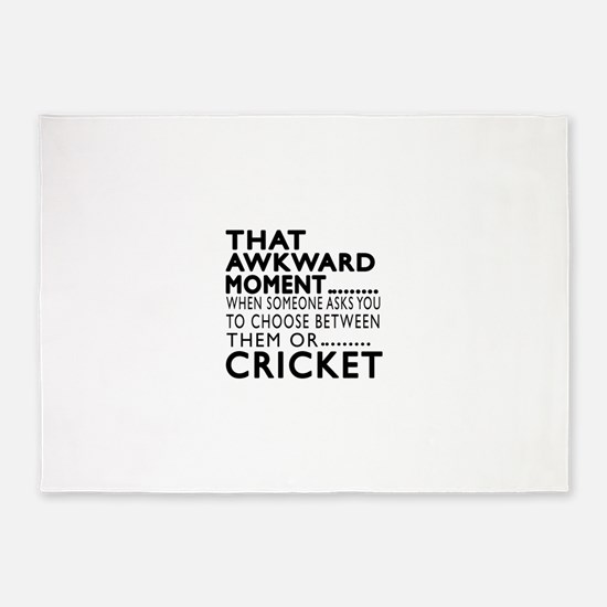 Cricket Awkward Moment Designs 5'x7'Area Rug