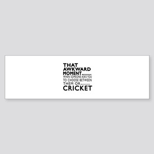 Cricket Awkward Moment Designs Sticker (Bumper)