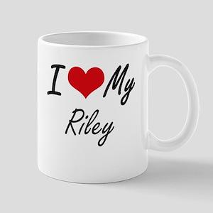 I Love My Riley Mugs
