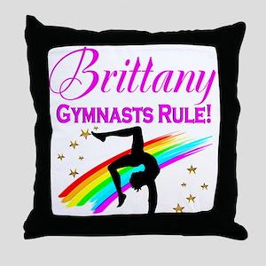GREAT GYMNAST Throw Pillow