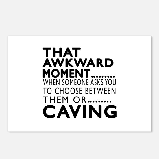 Caving Awkward Moment Des Postcards (Package of 8)