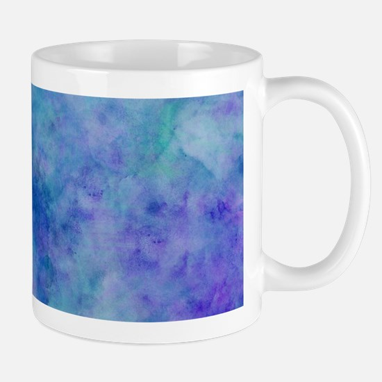 Ocean Aqua Blue Watercolor Mugs